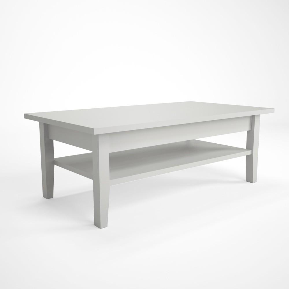 Biely konferenčný stolík z dubového dreva Artemob