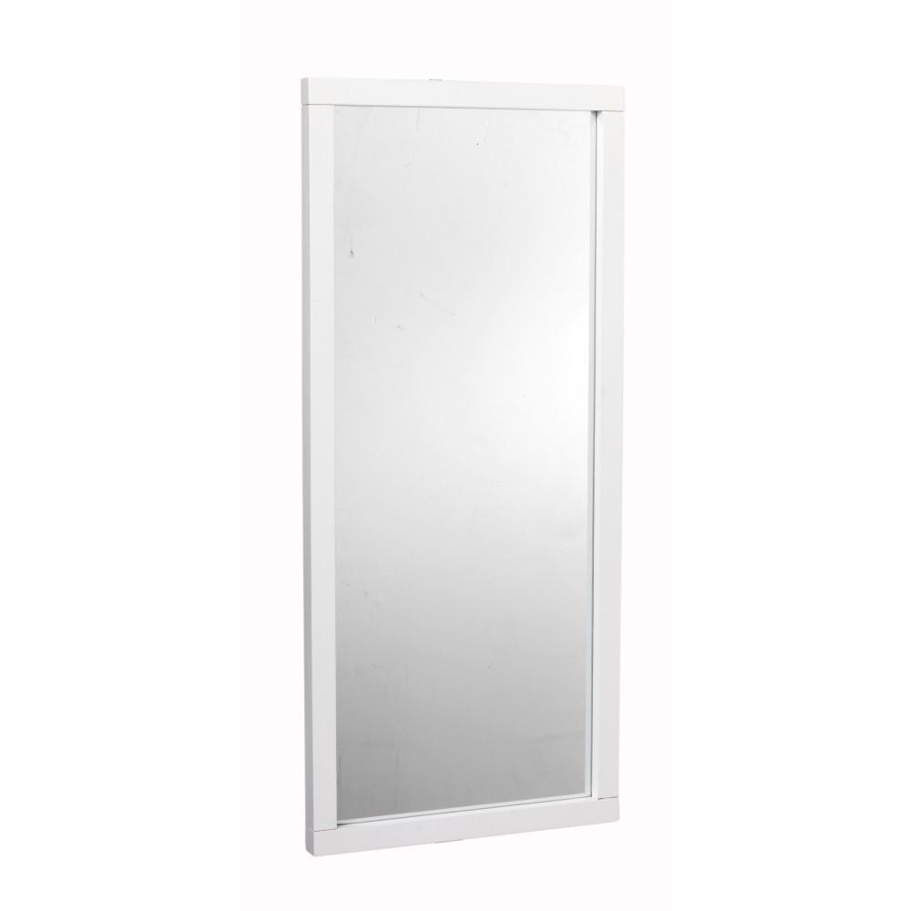 Biele dubové zrkadlo