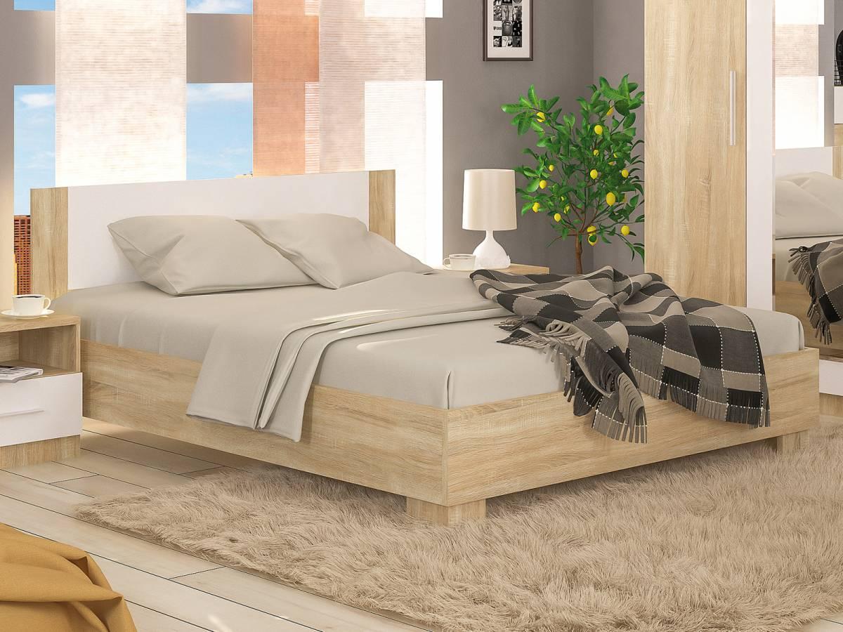 Manželská posteľ 160 cm Markos (s roštom)