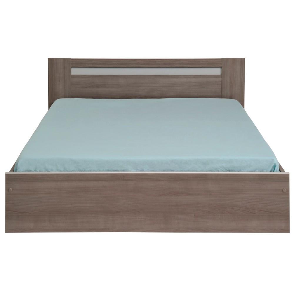 Dvojlôžková posteľ v dekore orechového dreva s 3 zásuvkami Parisot Arlette, 140 x 190 cm