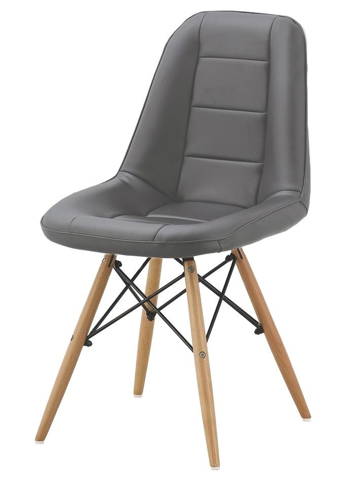 Jedálenská stolička VERI, šedá