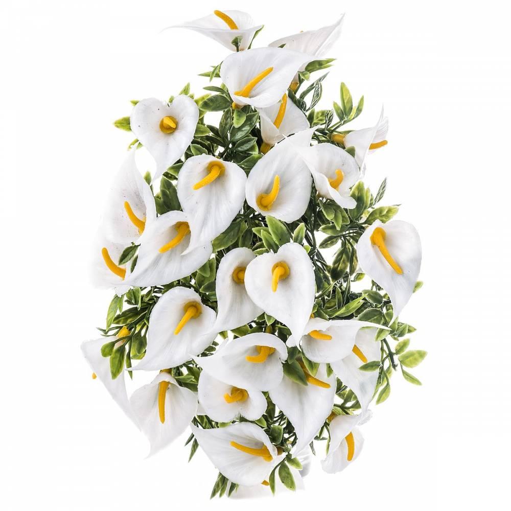 Umelé kvetiny Kala, biela, 30 cm, HTH