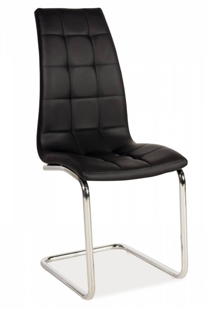 Jedálenská stolička H-103 (ekokoža čierna)