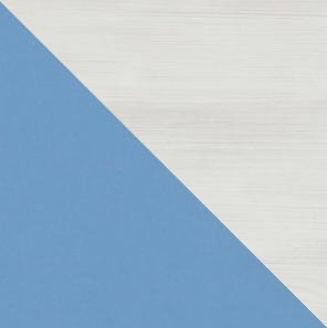 Detská rohová skriňa NUKI NU11   Farba: Modrá