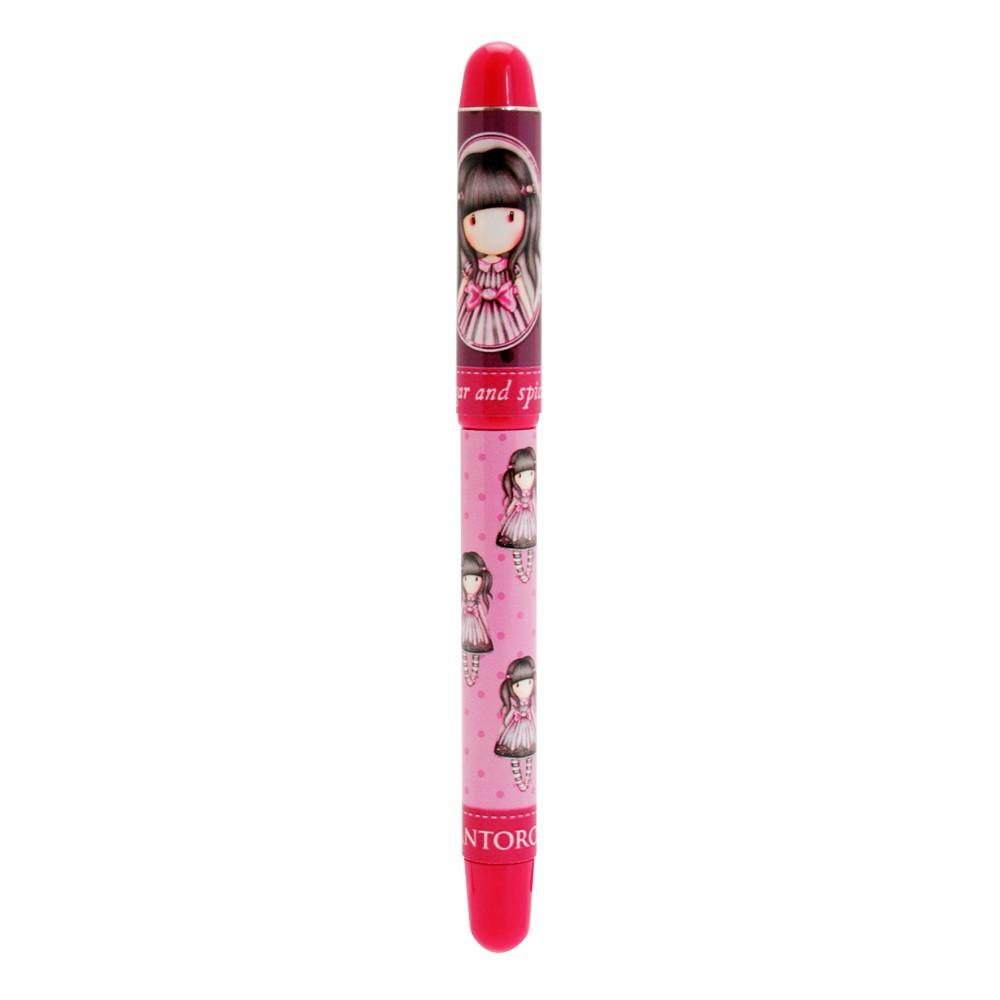Ružové guľôčkové pero s náplňami Santoro London Sugar and Spice