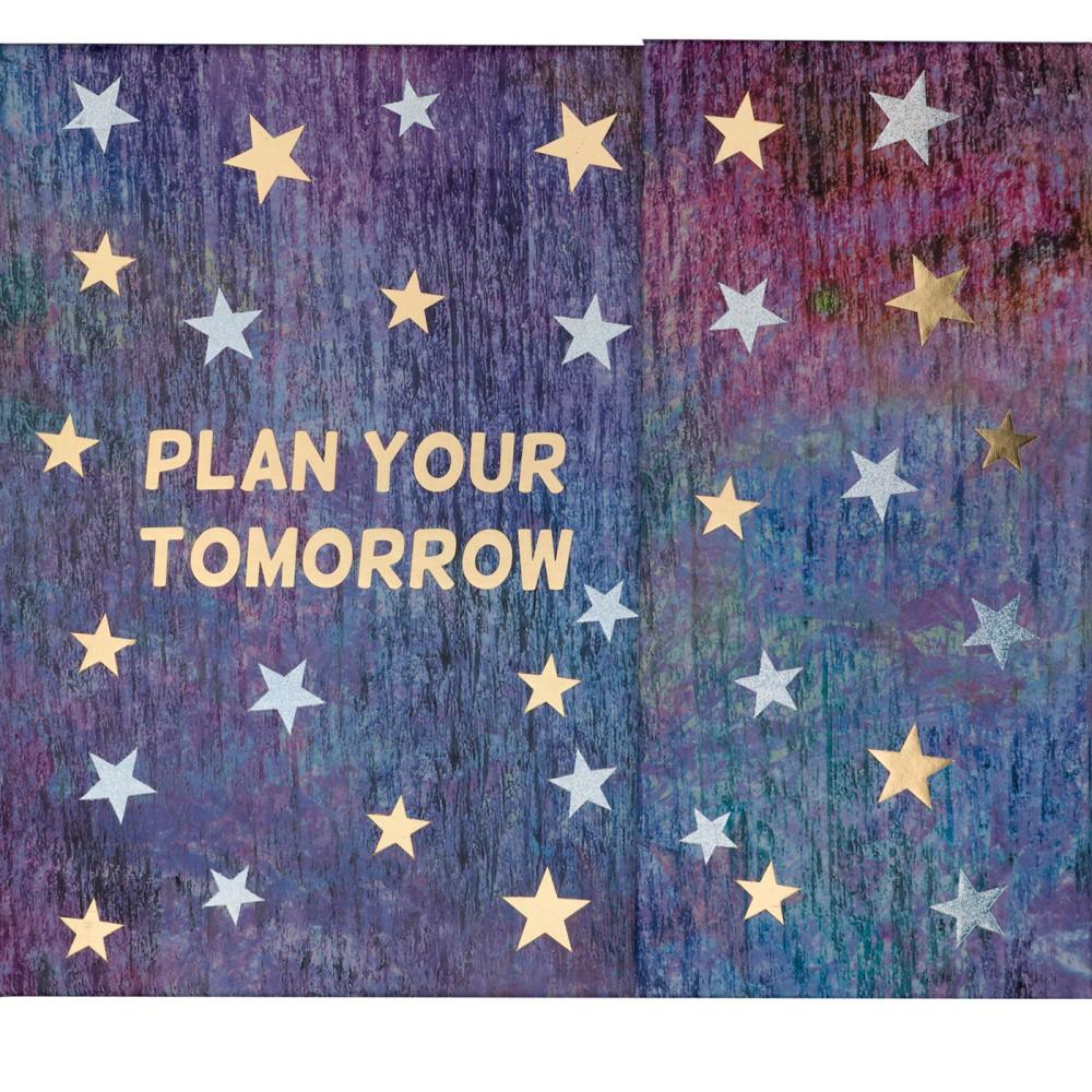 Týždenný plánovač s lepiacimi papierikmi a úložnou priehradkou Tri-Coastal Design Tomorrow