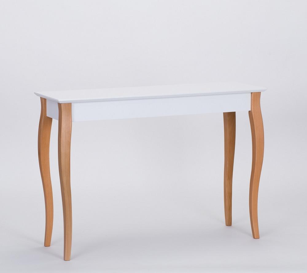 Biely odkladací stolík Ragaba Console,dĺžka105cm