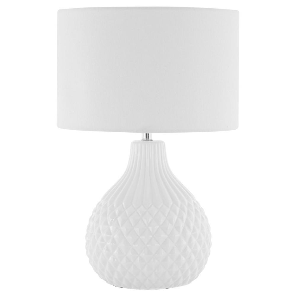 Stolová lampa s bielym tienidlom Premier Housewares Jax
