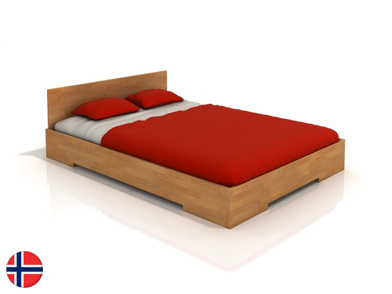 Manželská posteľ 200 cm Naturlig Kirsebaer (buk) (s roštom)