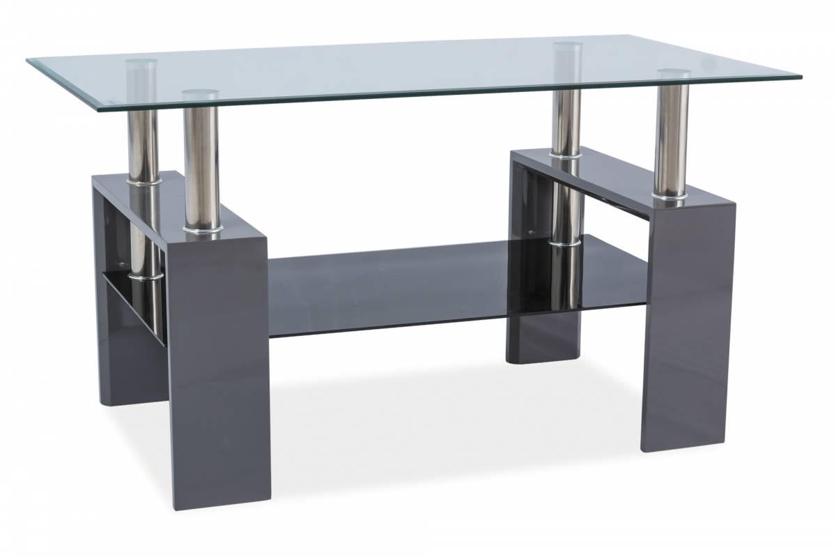 Konferenčný stolík Lisa III (lesk vysoký sivý)