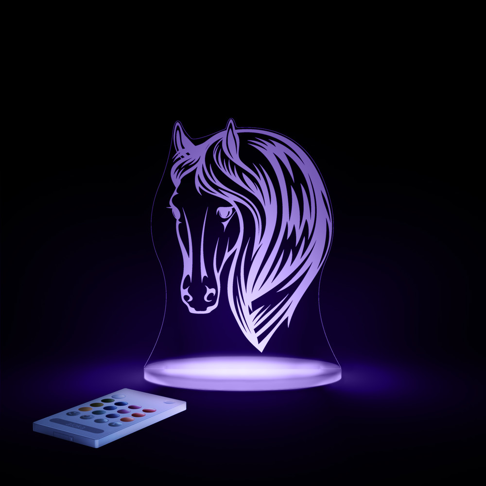 Detské LED nočné svetielko Aloka Horse