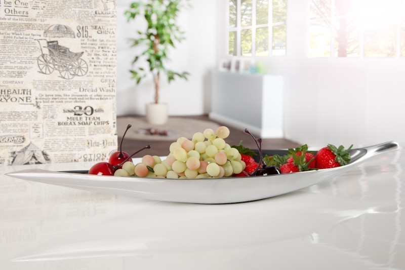 Dekoratívna miska BREGENZ 40 cm - strieborná