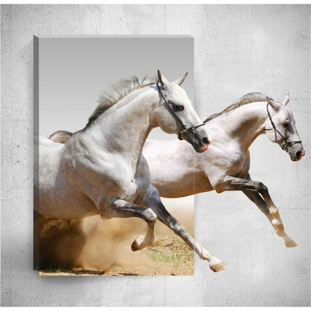 Nástenný 3D obraz Mosticx Horses, 40×60 cm