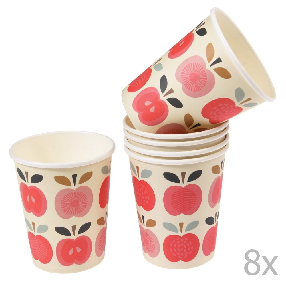 Sada 8 papierových téglikov Rex London Vintage Apple