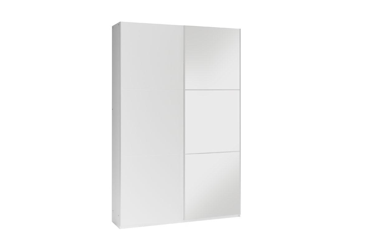 GOGO 120 šatníková skriňa so zrkadlom, biela