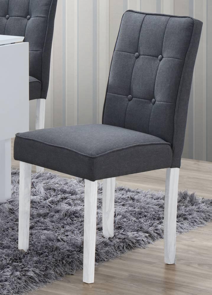 Jedálenská stolička MATES šedá/biela