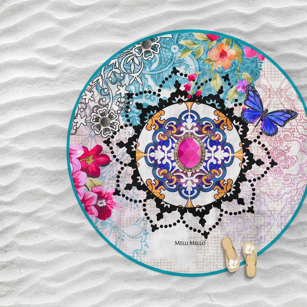 Plážová osuška Melli Mello Nadine, Ø150 cm
