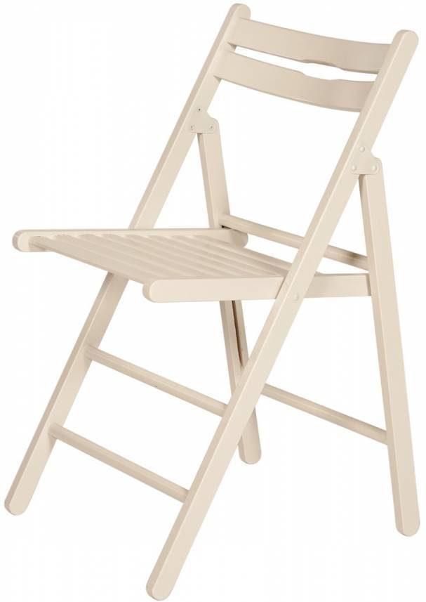 Skladacia stolička KLOPKLIP - biela