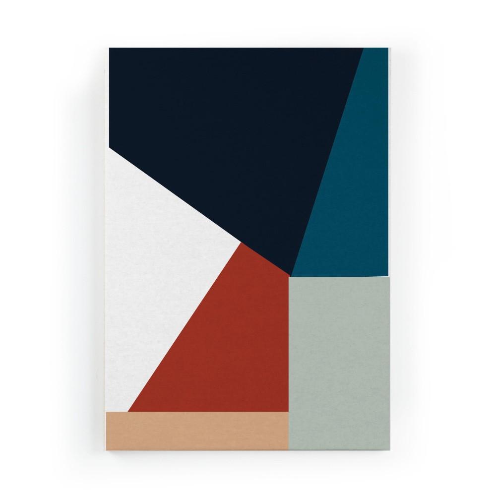 Obraz na plátne Really Nice Things Geometric Blue, 50×70 cm