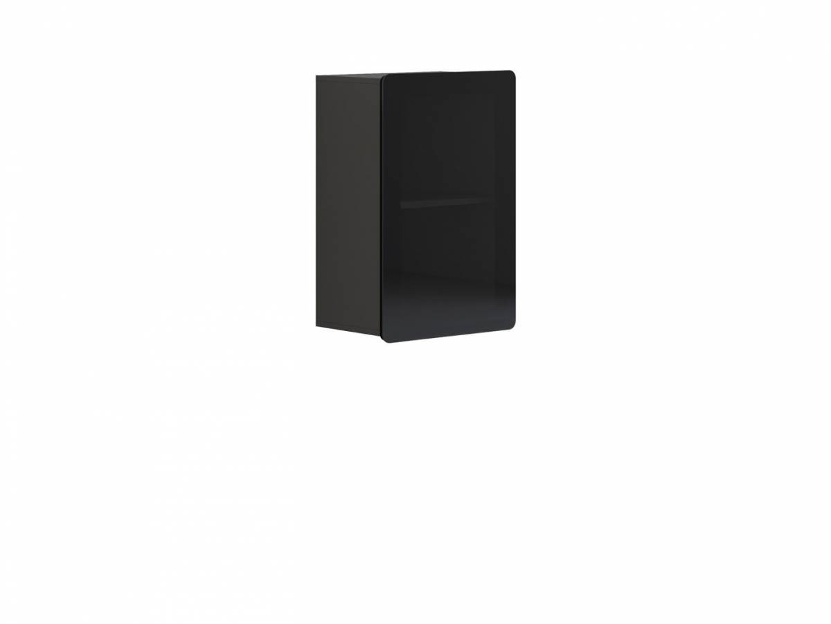 Vitrína na stenu Possi Light SFW1W/8/5 (sivý wolfram) (s osvetlením)