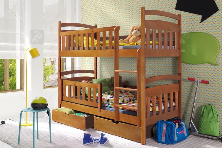 Nabytok-Bogart Poschodová posteľ lukášek - rozmer 80 x 180 cm.