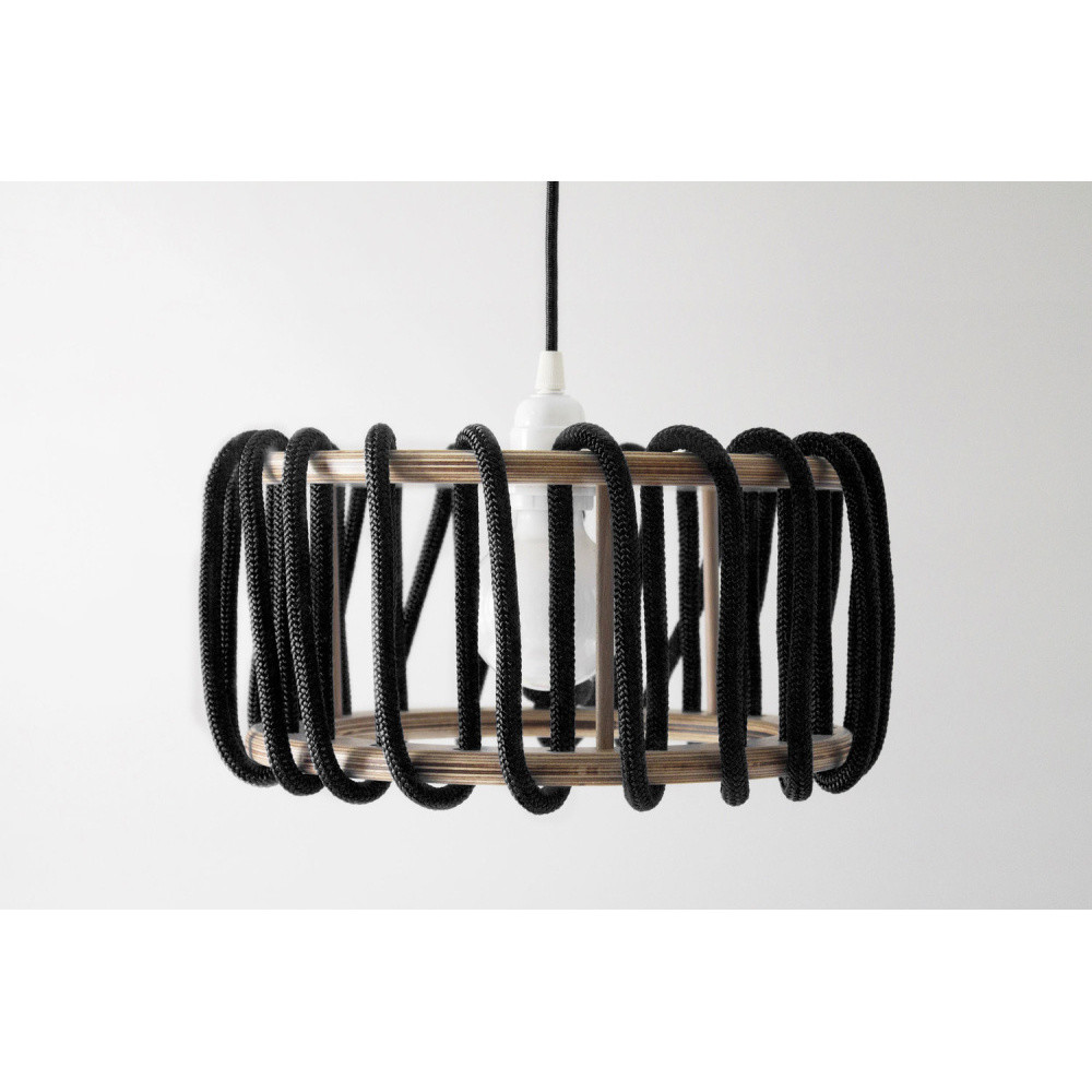 Čierne stropné svietidlo Emko Macaron, 30 cm