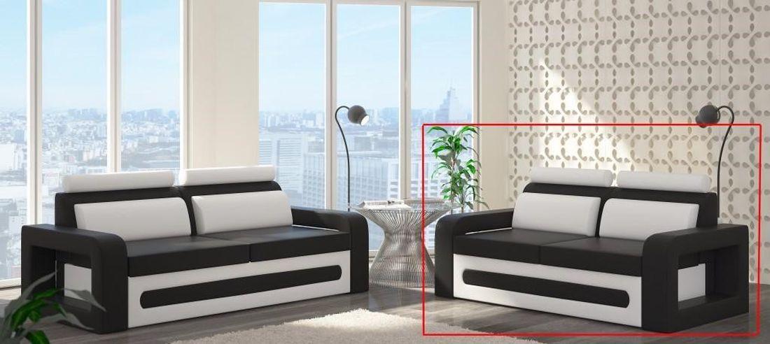 Pohovka MICHEL 2, 190x105x100 cm, soft 017 white/ soft 011 black