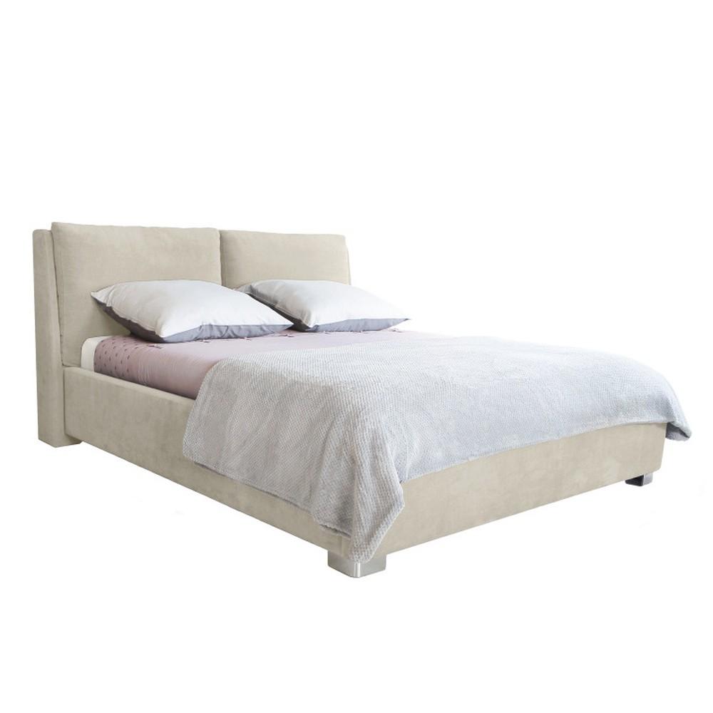 Béžová dvojlôžková posteľ Mazzini Beds Vicky, 180 x 200 cm