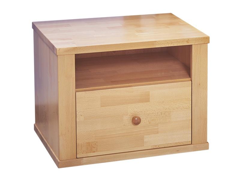 PreSpánok Beta - nočný stolík z buku alebo dubu Dub morený 50x40x45 cm