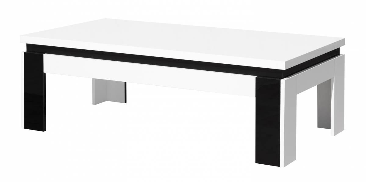 Konferenčný stolík Linn 07   Farba: biely lesk / čierny lesk