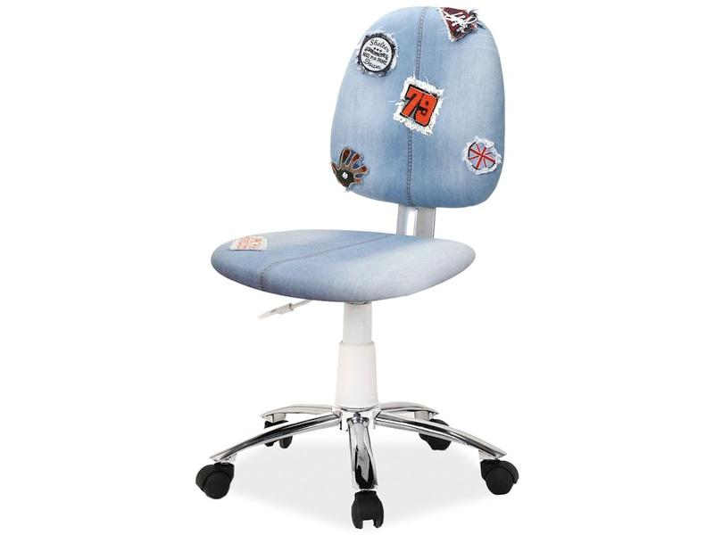 Detská stolička Zap (modrá + vzor)