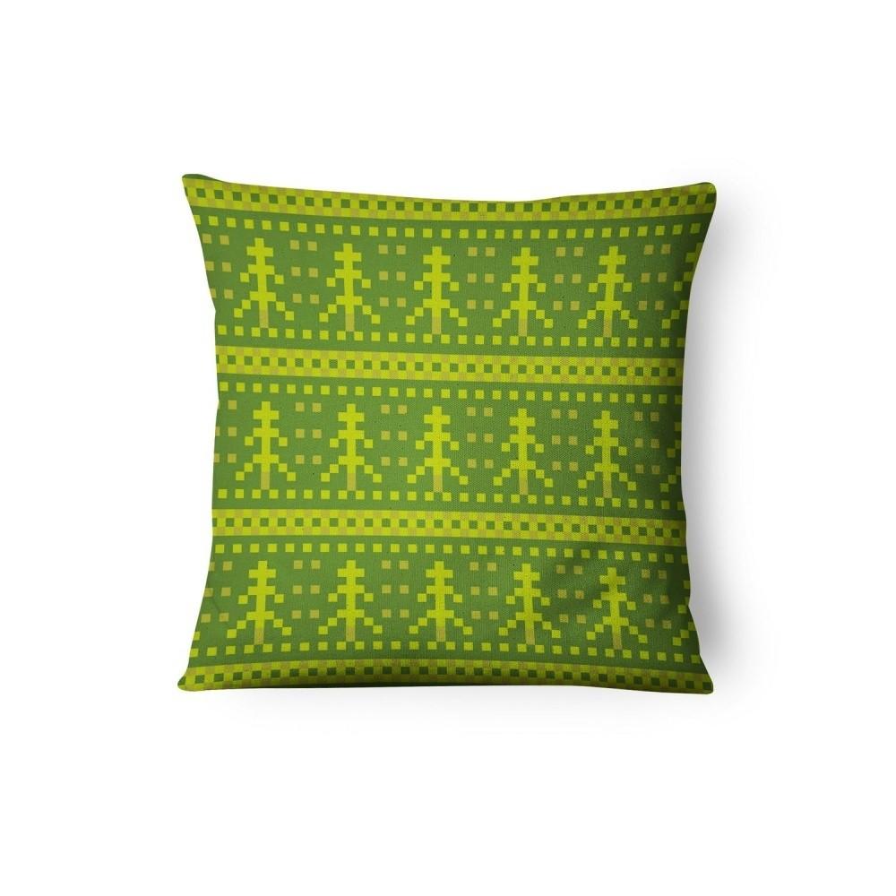 Zelená obliečka na vankúš Xmas Decorative, 45 x 45 cm