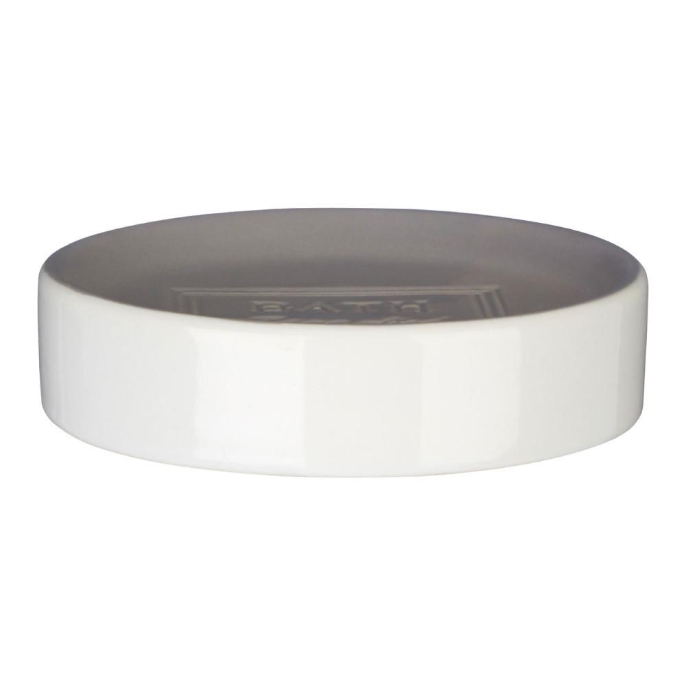 Bielo-sivá miska na mydlo Premier Housewares Vida