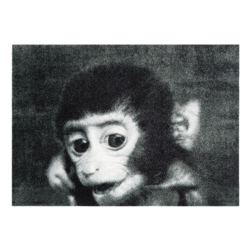 Sivá rohožka Mint Rugs  StateMat Monkey, 50x75cm