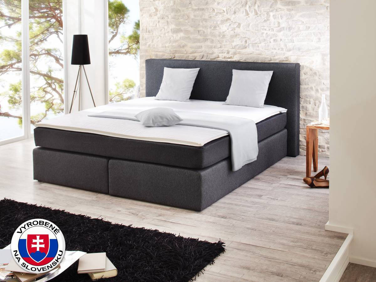 Manželská posteľ Boxspring 180 cm Base (s matracmi)
