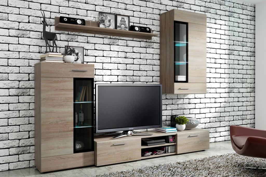 Moderná obývacia stena TANIA , dub sonoma