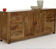 Furniture nábytok  Masívna komoda / príborník z Palisanderu  Ázád  180x42x95 cm