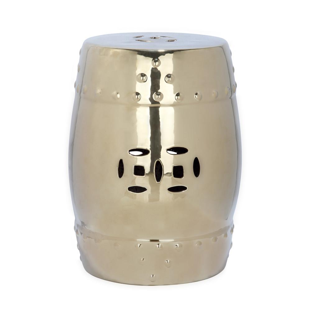 Zlatý keramický stolík Safavieh Modern Ming