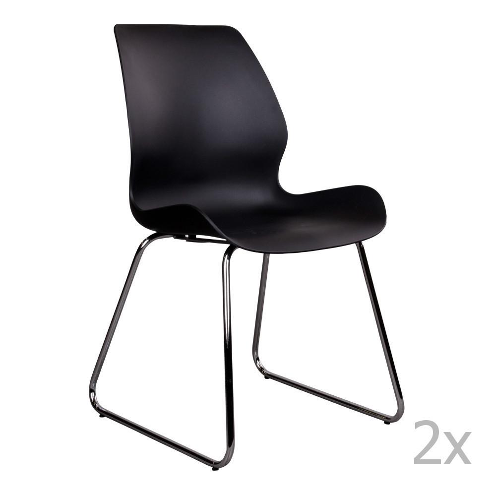 Sada 2 čiernych stoličiek House Nordic Sola