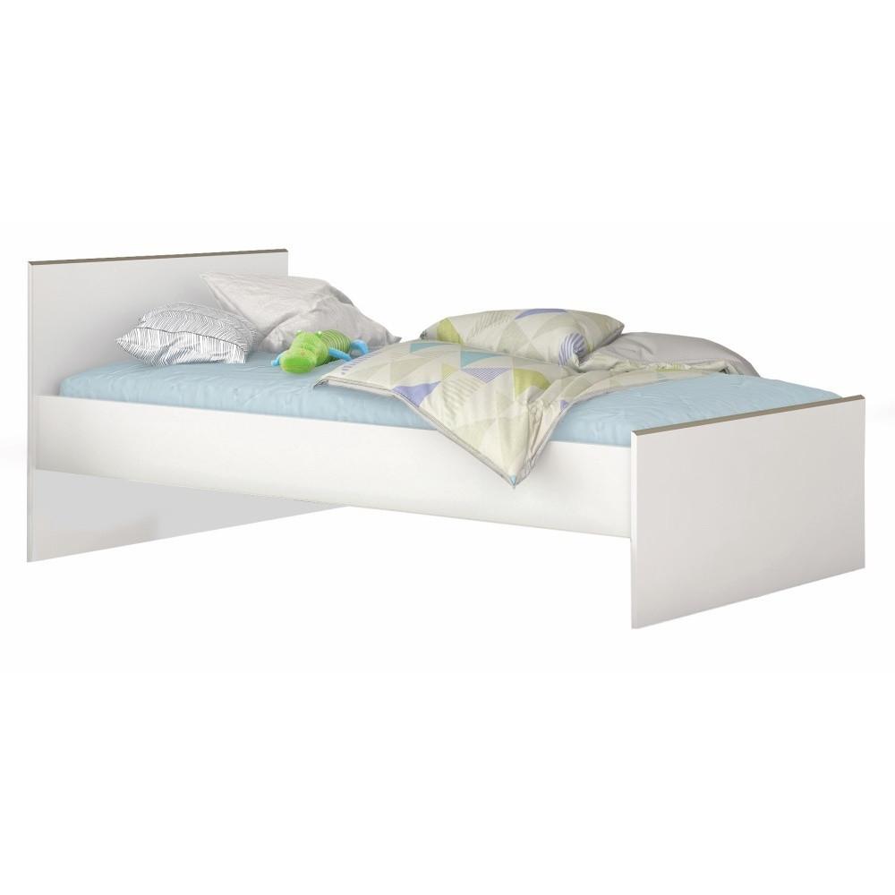 Biela posteľ Demeyere Kobe, 90 x 200 cm