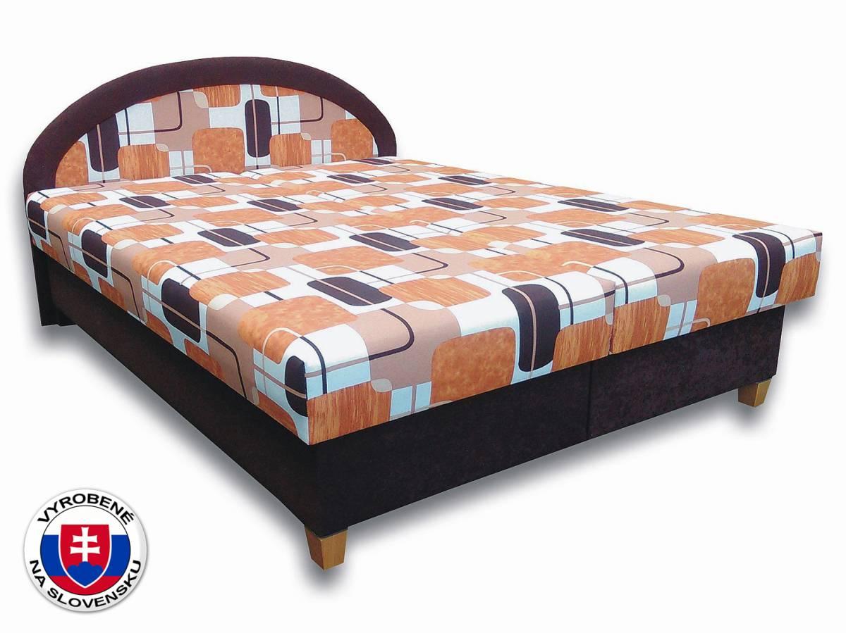 Manželská posteľ 160 cm Elena N (s penovými matracmi)