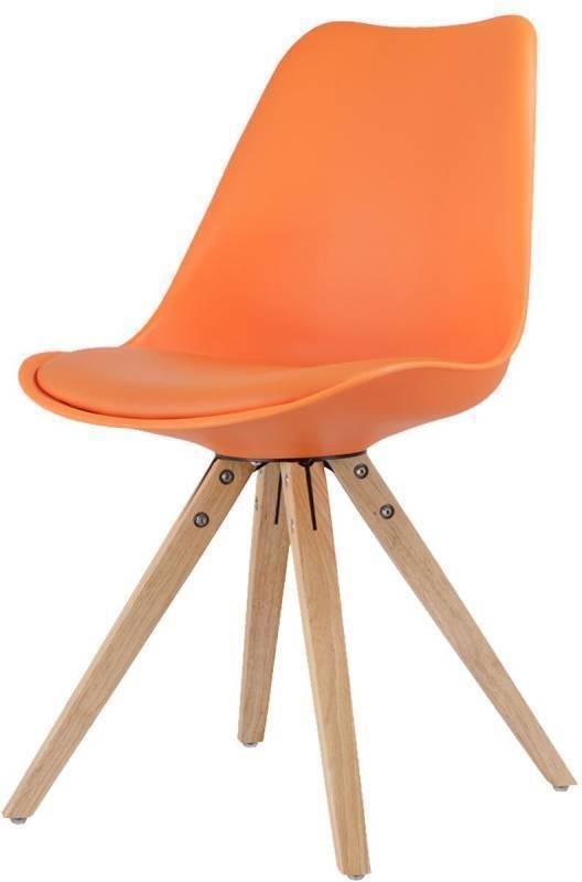 Jídelní židle LADY oranžová