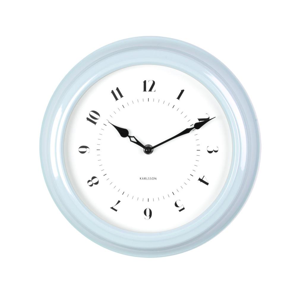 Modré nástenné hodiny ETH Fifties, priemer 30cm