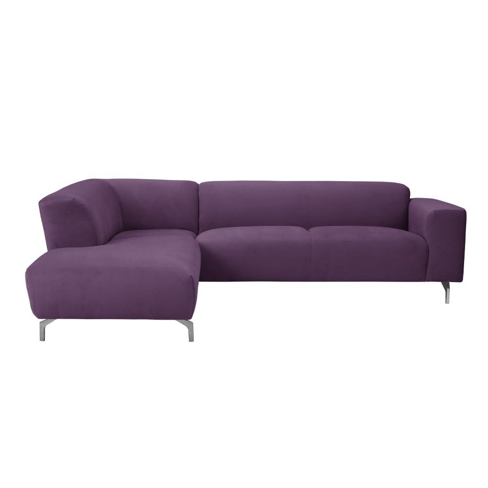 Fialová rohová pohovka Windsor & Co Sofas Orion, ľavý roh