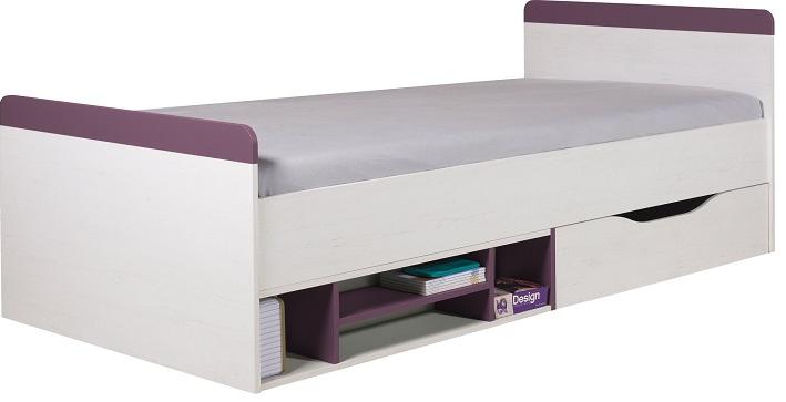 Detská posteľ Stone ST14 L/P   Farba: biela / fialová