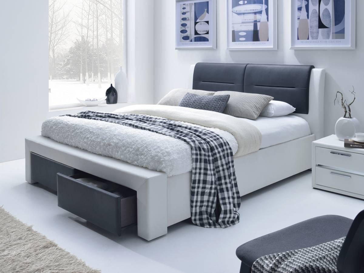 Manželská posteľ 160 cm Cassandra S (s roštom)