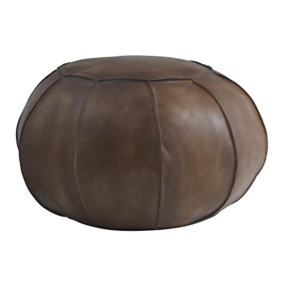 Hnedý kožený puf Fuhrhome Casablanca