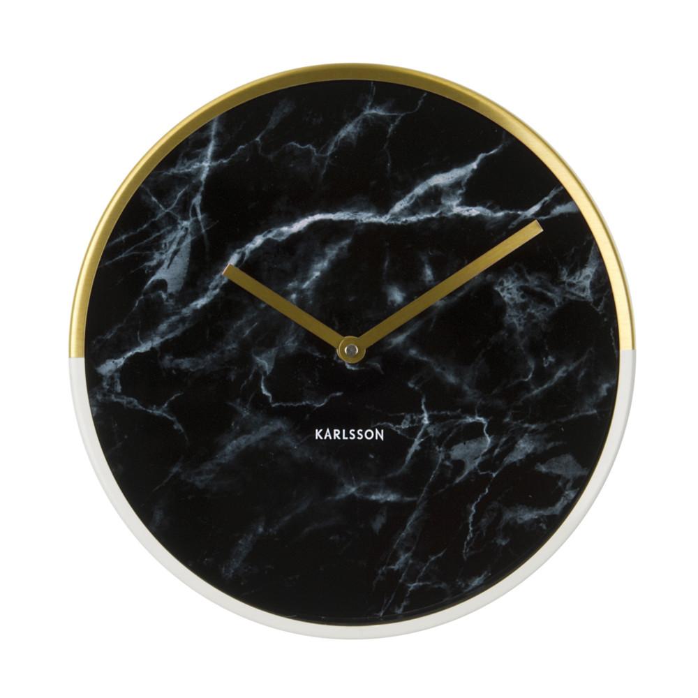 Hodiny Present Time MarbleDelightBlack