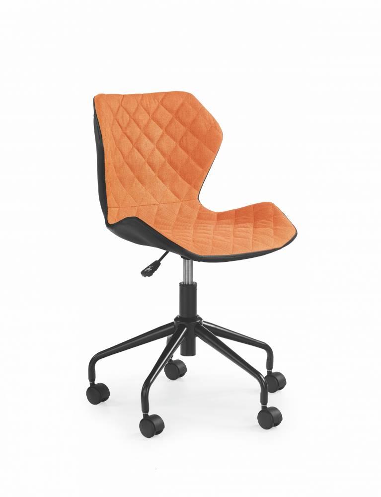 Detská stolička Matrix (oranžová + čierna)