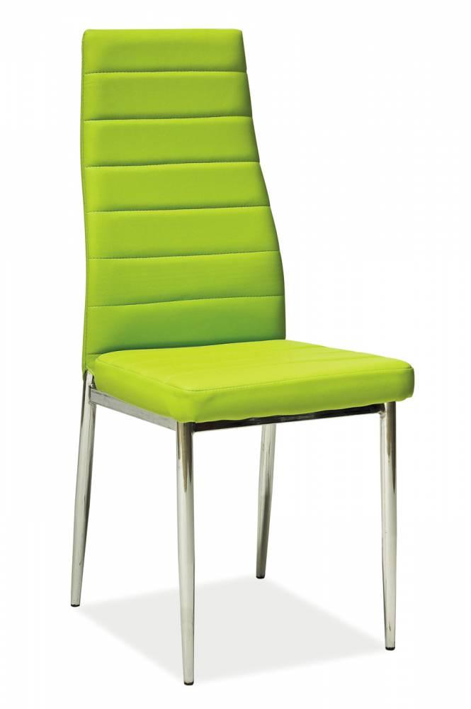 Jedálenská stolička H-261 (ekokoža zelená)